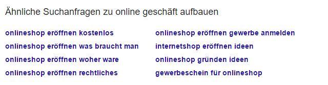 Ähnliche Suchanfragen für Google Ranking