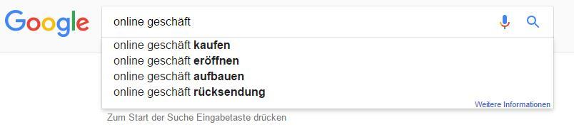Google Suchanfragen für SEO