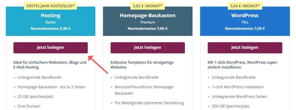 "One.com ""Starter"""