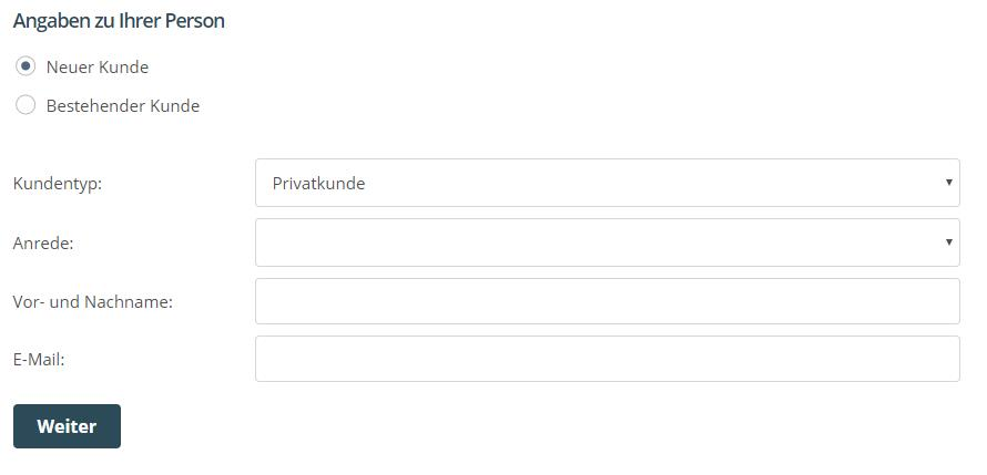 """One.com """"Vertrag abschließen"""""""