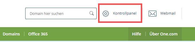 """One.com """"Login"""""""